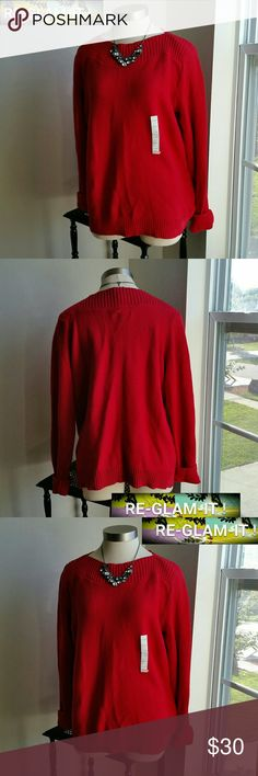CROFT & BARROW ....BEAUTIFUL SWEATER ...ADDING INFO SOON..EXCELLENT CONDITION. ..BRAND NEW. ..NWT... LOOSE FEEL.. croft & barrow Sweaters