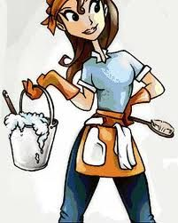 Cartoon Cleaning Lady Photo Ocean Cleaning Services Augusta GA - Bathroom cleaning lady