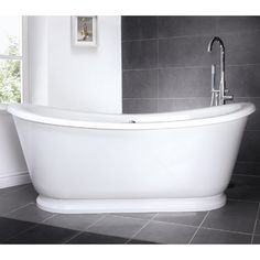 Alice 1750 Double Ended Slipper Freestanding Bath with Skirt - NFB002