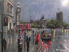 PETE RUMNEY FINE ART MODERN OIL ACRYLIC PAINTING LONDON ORIGINAL WESTMINSTER NR in Art, Artists (Self-Representing), Paintings | eBay