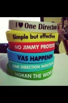 It'd be awesome if every directioner got one of these so when we see someone on the street with a bracelet we would know!