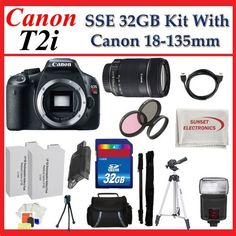 Canon EOS Rebel T2i SLR Digital Camera Kit with Canon Ef-s 18-135mm F/3.5-5.6 Is Lens + Huge SSE 32GB Lens Accessories Pac... http://shorl.com/jyjyjubuhafu