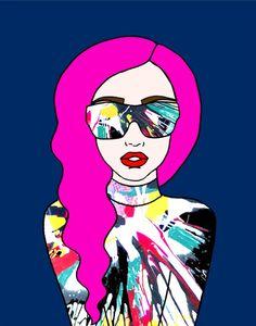 Lady Gaga fanart by Electric Never