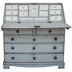 Period Swedish Writing Desk  - Would be fun to refinish the secretary from MFTW in this color