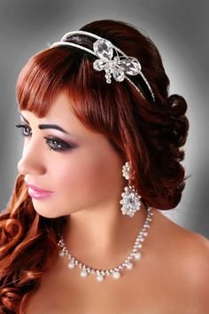 Beautiful sparkly headband Butterfly wedding headband bridal hair accessories by Lesense, $60.00