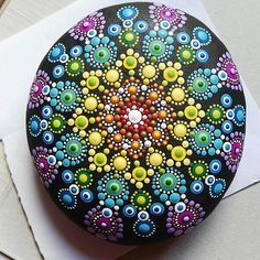 Shades of Purple Dot Painted Stone, Original Hand Painted Rock Art, Mandala Design, Mandala Stone Rock Painting Patterns, Dot Art Painting, Mandala Painting, Pebble Painting, Pebble Art, Stone Painting, Mandala Painted Rocks, Mandala Rocks, Hand Painted Rocks