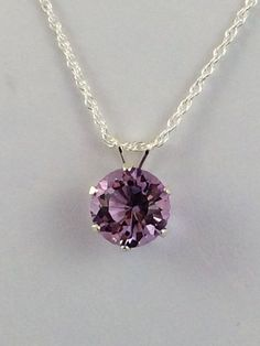 Multi-Faceted Purple Amethyst Pendant Necklace on Sterling Silver Chain by Rock2Gems on Etsy $70 USD #amethystpendant #gemstonependant #birthstonependant #februarybirthstone #amethystnecklace: