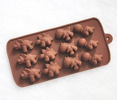 Cute Dinosaurs Silicone Chocolate Mold Silicon Mini Soap Moulds Ice Candy Molds by Ferkl on Etsy https://www.etsy.com/listing/170775722/cute-dinosaurs-silicone-chocolate-mold