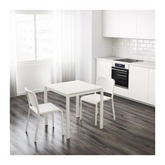 IKEA - INGATORP, Extendable table, One extension leaf included.Extendable dining table with 1 extra leaf seats makes it possible to… White Dining Table, Extendable Dining Table, Ikea Round Dining Table, Dining Room, Table Ronde Ikea, Ikea Ingatorp, Bjursta Table, Painted Drawers, Drop Leaf Table