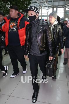 2014 Big Bang Taeyang | ... Seungri, Taeyang and Daesung at Incheon Airport to Fukuoka 2014/02/10