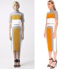 ASOS Dresses & Skirts - Finders    Gray Striped High Waist Pencil Skirt
