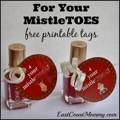 "MistleTOES -- Cute ""little"" gift. Great for neighbours, teachers, and friends. Fun with a gift card too!"