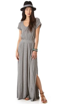Loving this simple and casual jersey maxi