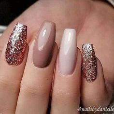 Mismatched nail art design #nailart