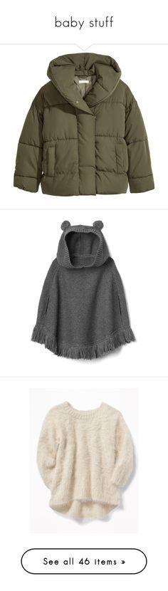 """baby stuff"" by tomlinsonsadidas ❤ liked on Polyvore featuring outerwear, jackets, woven jacket, hooded jacket, long sleeve jacket, snap jacket, padded hooded jacket, tops, fringe poncho and style poncho"
