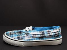 Dawgs Kaymann Boat Shoe Size 7 Former Display Shoe (Blue Plaid)