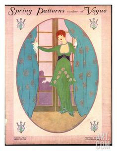 Vogue Cover - March 1913 Poster Print by Helen Dryden at the Condé Nast Collection