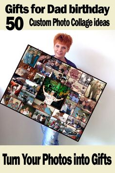 Dads 50th birthday. Memorable photo collage, gift ideas for Father already has everything