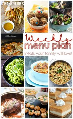Weekly Meal Plan Wee