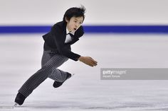 Koshiro Shimada of Japan competes in the Men free skating during the day two of the 2015 Japan Figure Skating Championships at the Makomanai Ice Arena on December 26, 2015 in Sapporo, Japan.