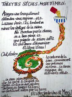 Toilette sèche, le wc écolo. Les toilettes version 100% éco : http://helenemaurice.eu/toilettes.htm