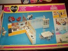 Sindy's Home Room Settings by Pedigree, 1979 1980s Childhood, My Childhood Memories, Vintage Barbie, Vintage Toys, Sindy Doll, Fulham, Barbie House, Ol Days, Doll Furniture