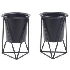 Κασπώ πλαστικό με μεταλλική βάση σετ 2 τεμάχια μαύρo Click 6-70-307-0002