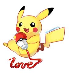 Pikachuuu by Moochirin on DeviantArt Pikachu Art, Cute Pikachu, Cute Little Drawings, Cute Drawings, Pikachu Evolution, Minions, Pokemon Backgrounds, Pokemon Comics, Pokemon Stuff