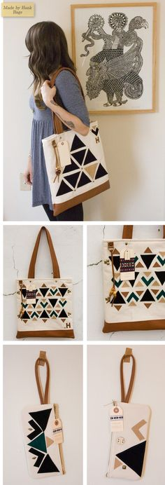 Me gusta el cuadro y  el bolso !!!  Made by Hank Bags - Home - Creature Comforts - daily inspiration, style, diy projects + freebies