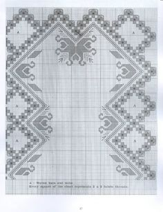 Gallery.ru / Фото #144 - хардангер - Pistimeya Blackwork Patterns, Embroidery Patterns Free, Hand Embroidery Stitches, Doily Patterns, Cross Stitch Embroidery, Embroidery Designs, Dress Patterns, Bordados E Cia, Hardanger Embroidery