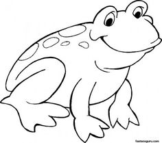 printable smiling frog coloring page animal pictures to print