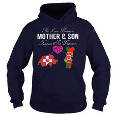 Awesome Tee THE LOVE BETWEEN MOTHER AND SON - Switzerland Portugal Shirts & Tees