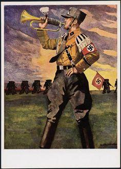 Germany, SA Storm Trooper Propaganda, SA Bugler.