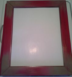 BEAUTIFUL Distressed Red, Tan,  & Black 11 x 14 Picture Frame