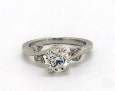 Round, Vintage Flaire Vine Diamond Engagement Ring in Platinum Dream Engagement Rings, Round Cut Engagement Rings, Engagement Ring Styles, Designer Engagement Rings, Vintage Engagement Rings, Round Diamond Ring, Diamond Heart, Round Diamonds, James Allen Rings