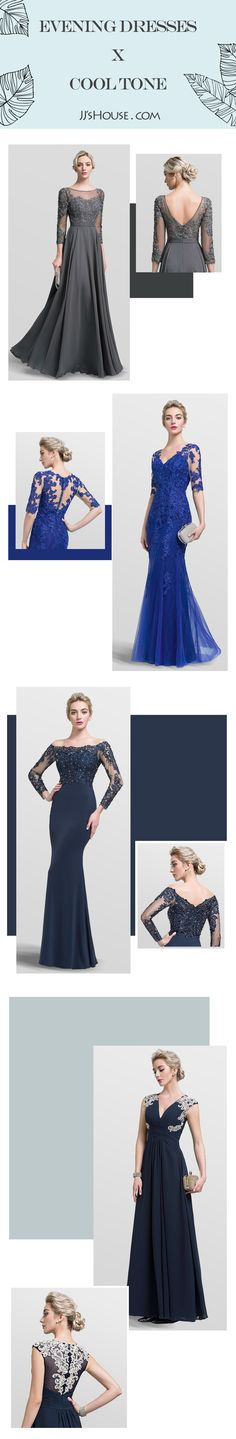 Evening dresses in cool tone bring you maturity and grace. Of course not only these color, we have more choices for you, Click and see more~~ #JJsHouse