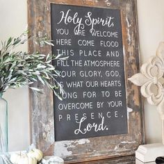 """27 x """"Holy Spirit you are welcome here come flood this place and fill the atmosphere. Your glory, God, is what our hearts long for to be overcome by your presence Lord"""" song verse by Bryan and Katie Torwalt. From The house of belonging FB page. Katie Torwalt, Prayer For You, Prayer Room, Prayer Closet, Chalkboard Art, God Is Good, Happy Sunday, Holy Spirit, Spirit Song"""