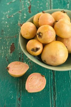 Guava - I can always smell these across the fruitmarket above all the other scents - They are so lush and tropical.