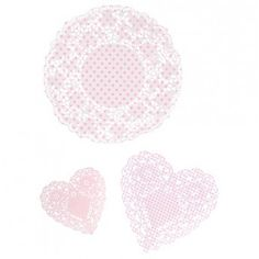 Pink n' Mix Darling Doilies (set of 30)  http://www.larkmade.com.au/party/pink-n-mix-doilies-pack-of-30.html  $9.95