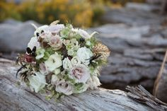 Antique Ivory and Lavender Blushing Bride Bouquet