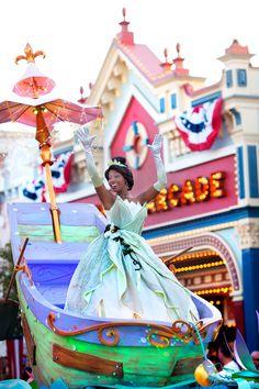 Princess Tiana in Mickey's Soundsational Parade