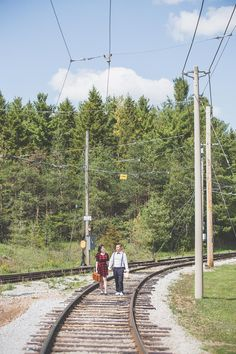 Engagement Shoot / Halton Railway Museum / Wedding Photography / Toronto Photographer / www.wilsonhophotography.com Wedding Photography Toronto, Engagement Photography, Engagement Shoots, Wedding Engagement, Toronto Photographers, Railway Museum, Museum Wedding, Sidewalk, Engagements