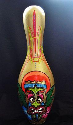 Pinned/Tiki bowling Pin, Mark Hagstrom