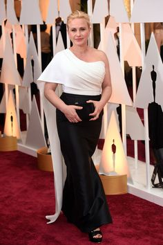 The Oscar-Night Looks That Won, Big Time  #refinery29  http://www.refinery29.com/2015/02/82608/oscars-2015-best-dressed-red-carpet-photos#slide-30  When one of our old favorites wears one of our new favorites, it's an automatic list-maker. That's what's happening with leading lady Patricia Arquette in this asymmetrical Rosetta Getty gown — drapey cape shoulder included.