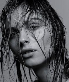 Andreja Pejic sports the wet hair look, shot by Craig McDean