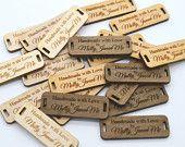 50 Produkt-Marker - Handmade With Love - 0,5 x 1,5 Zoll - Laser geschnitten und graviert