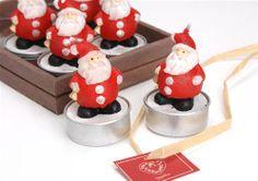 Coffret 6 bougies pères Noël - rouge  http://www.plumedinterieur.com/cof-6-t-l-pere-noel-c2x12935802