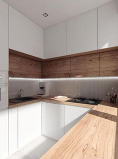 Minimal yet Elegant Kitchen Design Ideas - Page 2 of 3 - The Architects Diary Minimal Kitchen Design Inspiration is a part of our furniture design inspiration series. Minimal Kitchen design inspirational series is a weekly showcase Kitchen Dinning, Kitchen Sets, New Kitchen, Kitchen Decor, Kitchen Modern, Kitchen Wood, Awesome Kitchen, U Shape Kitchen, Beautiful Kitchen