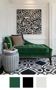 69 Trendy Painting Ideas For Living Room Green Apartment Therapy Living Room Green, Bedroom Green, Green Rooms, Bedroom Decor, Black And White Living Room Decor, Bedroom Ideas, Apartment Interior Design, Living Room Interior, Decor Interior Design