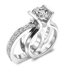 Interchangeable Diamond Wedding Set - Claude Thibaudeau Montreal - Product Search - JCK Marketplace